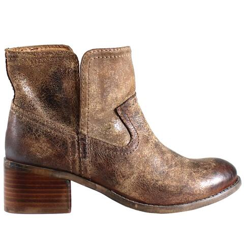 "Diba True Walnut Grove Womens Boots Ankle Mid Heel 2-3"" - Brown"
