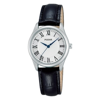 Pulsar Womens Black Leather Dress Watch
