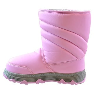 Khombu Girls Neptune Mid-Calf Pull On Snow Boots (2 options available)