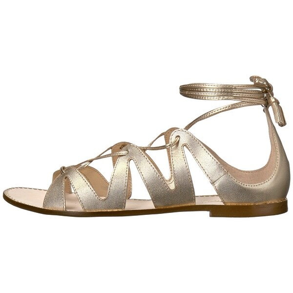 Lilly Pulitzer Womens FitToBeTied Leather Open Toe Special Occasion Gladiator...