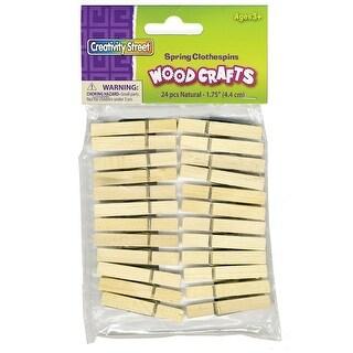 "Creativity Street - Wood Craft Pins - 1.75"" Natural - 24/Pkg."