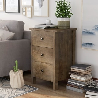 Link to Carbon Loft Mulgrew Distressed Walnut Nightstand Similar Items in As Is