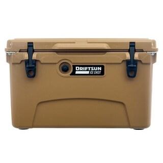 Driftsun 45 Quart Ice Chest / Heavy Duty Cooler / High Performance Commercial Grade Insulation (Tan)