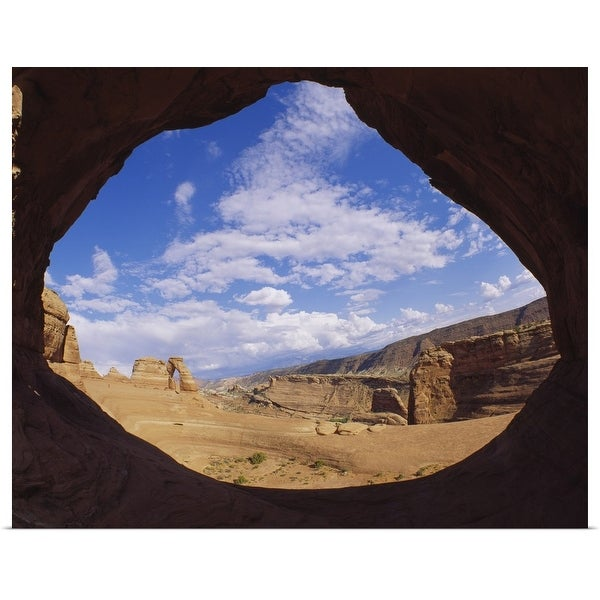 """Rock formations on a landscape, Arches National Park, Utah"" Poster Print"