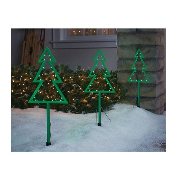 celebrations 23065 71 led christmas tree pathway markers plastic green 20