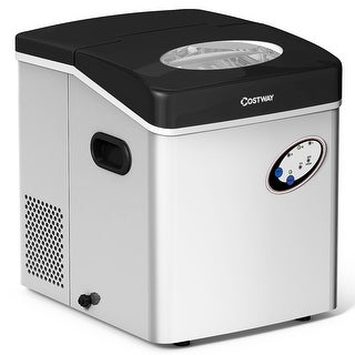 Costway Stainless Steel Ice Maker Countertop 48lb Per Day Freestanding Portable Icemaker - AS PIC