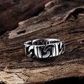 Vienna Jewelry Stainless Steel Interlocked Classic Ring - Thumbnail 1