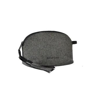 """Sherpani Pouch Womens Wool Tasseled Raw Edge Zip Pull Closure Stella - 9"""" x 6.5""""x 3"""""""