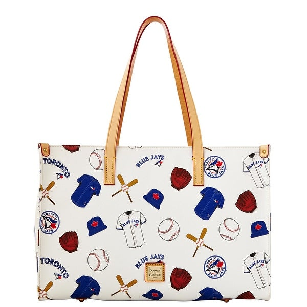 b54ac3e90 Shop Dooney   Bourke MLB Blue Jays Shopper (Introduced by Dooney   Bourke  at  228 in Feb 2014) - White - Free Shipping Today - Overstock - 13317625