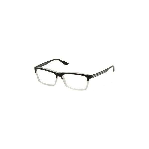 Gucci Womens Eyeglasses 3517 WW2/14 Plastic Rectangle Black Crystal Frames