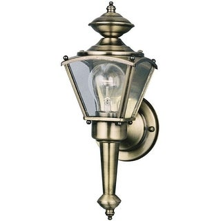 Westinghouse 66963 Outdoor Wall Lantern Fixture, Clear Glass