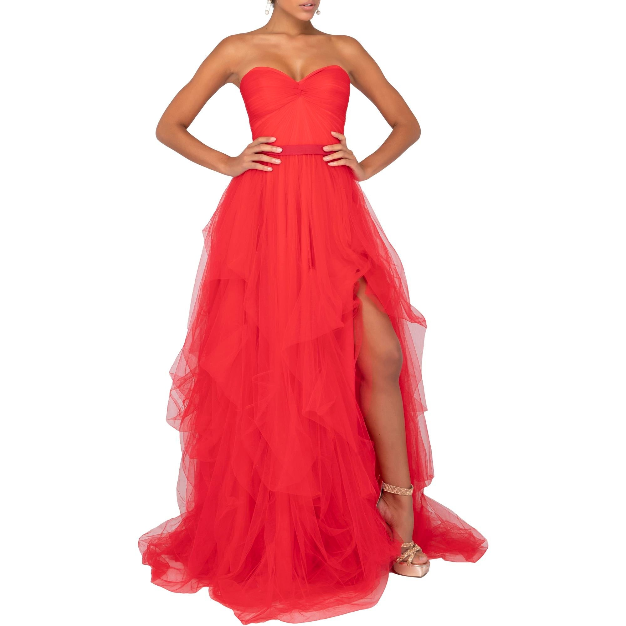 Shop Terani Couture Ball Gown Prom Formal Dress Red Overstock 31082162