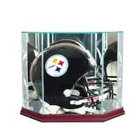 Octagon Full Size Football Helmet Display Case, Cherry