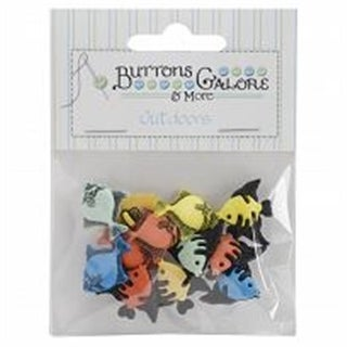 Buttons Galore BTP-4242 Button Theme Pack, Tropical Fish