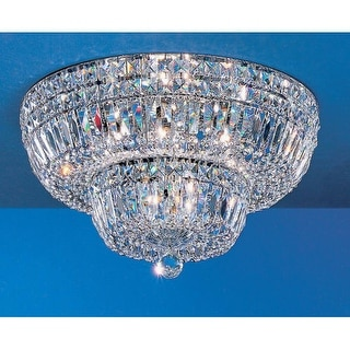 "Classic Lighting 53318 Empress 9 Light 18"" Wide Flush Mount Crystal Ceiling Fixture"