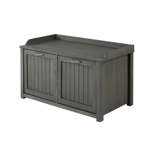 The Gray Barn 38-Inch Groove Door Storage Bench - Overstock - 33782046