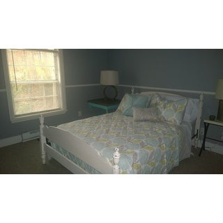 Urban Habitat Stella Aqua Cotton Printed Coverlet Set