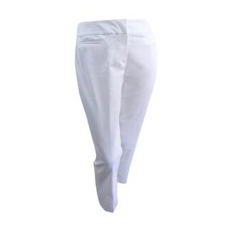 Nine West Women's Plus Size Straight-Leg Pants - Lily