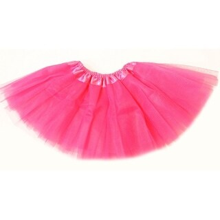 Baby Girls Hot Pink Satin Elastic Waist Ballet Tutu Skirt 0-12M