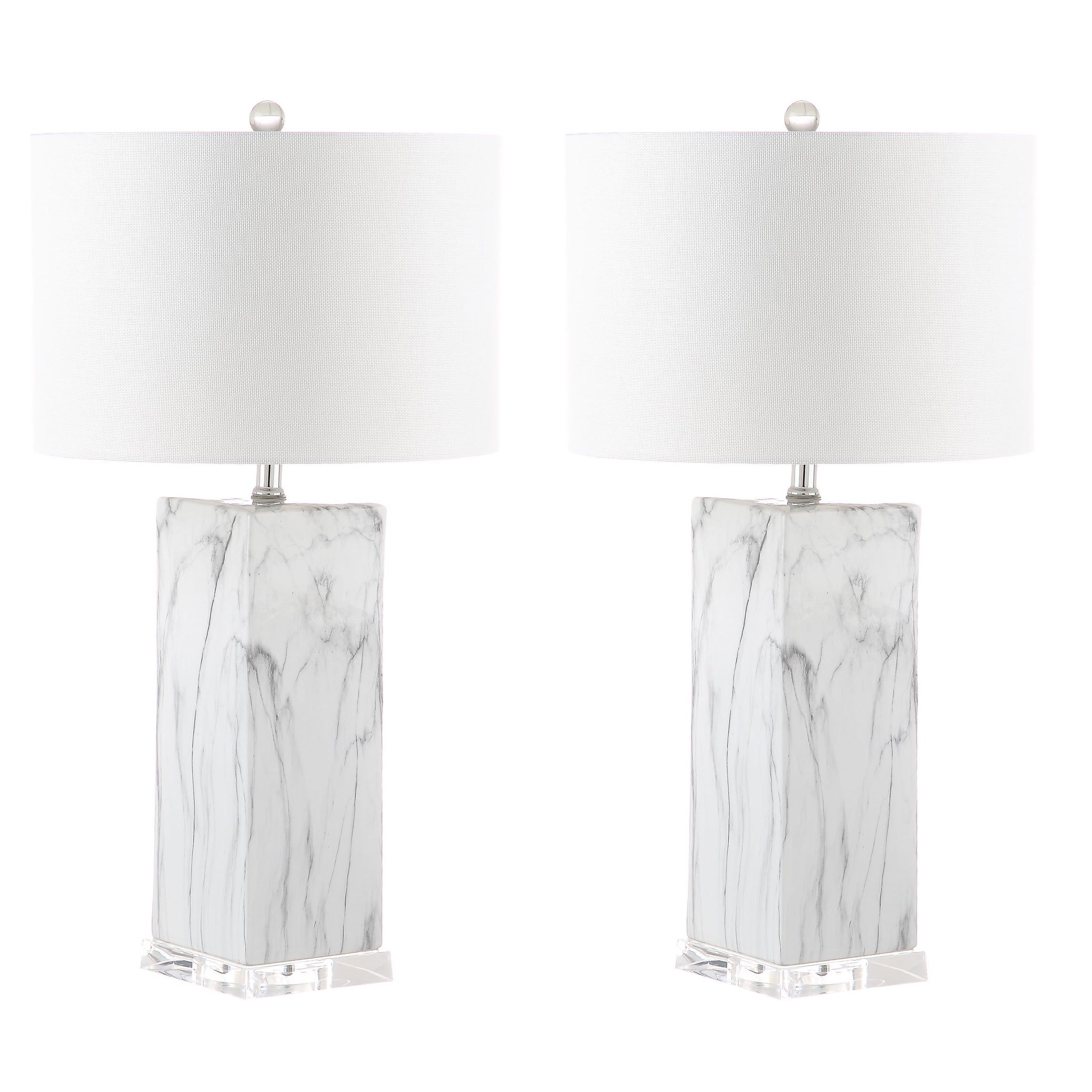 Safavieh Lighting 29 Inch Olympia Marble Table Lamp Set Of 2 15 X15 X29 On Sale Overstock 22256111