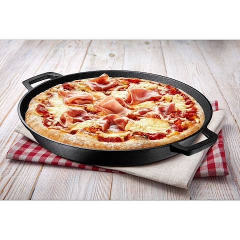 16 Inch Double Handled Cast Iron Skillet Pizza Pan