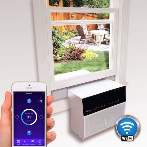 Soleus Air® Exclusive 6,000 BTU ENERGY STAR® Saddle Air Conditioner with MyTemp Remote Control with WiFi
