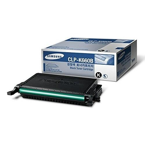 """Samsung CLP-K660B High-Yield Black Toner Cartridge Toner Cartridge"""