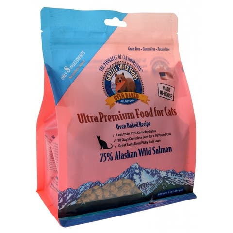 Grizzly Super Foods Oven Baked Alaskan Wild Salmon for Cats 1 lb