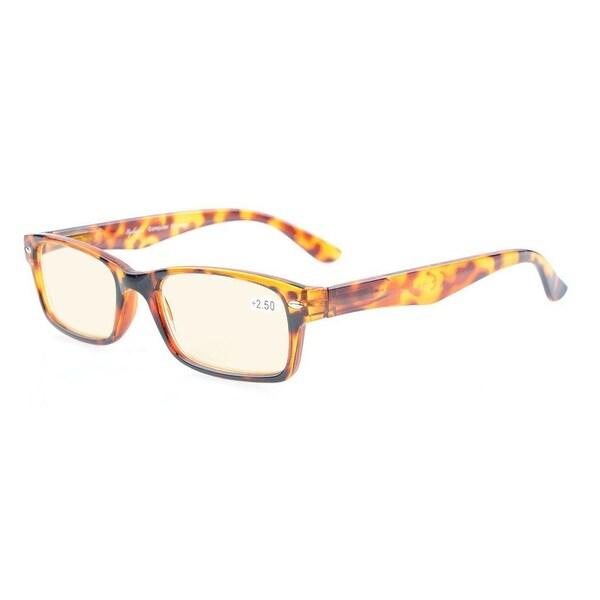 Eyekepper Spring Hinges Scratch Resistant Lens Eyeglasses(Yellow Tinted Lenses, Tortoiseshell) +3.0