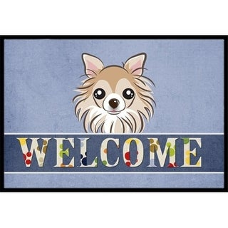 Carolines Treasures BB1437JMAT Chihuahua Welcome Indoor & Outdoor Mat 24 x 36 in.
