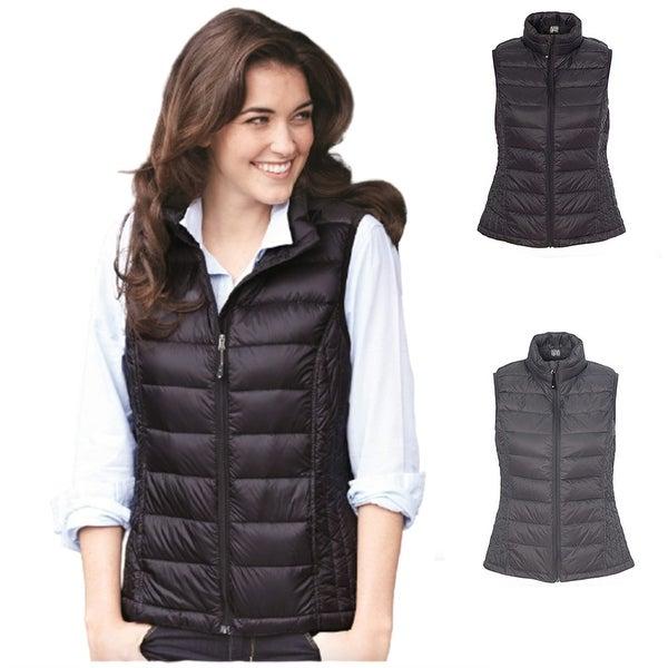 KaloryWee Vest Coat for Women Faux Fur Fleece Winter Outdoor Gilet Womens Sweater Zip Vest with Pockets Padded Sleeveless Jackets