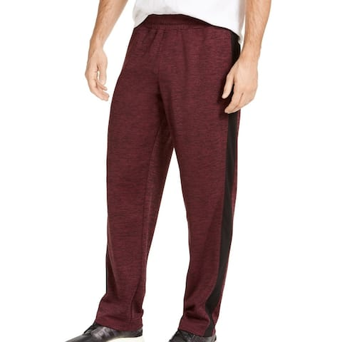 Ideology Mens Track Pants Red Size 2XL Training RapiDry Spacedye Stretch