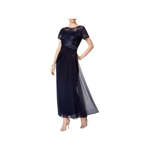 5506925489e Alex Evenings Womens Evening Dress Full-Length Embellished