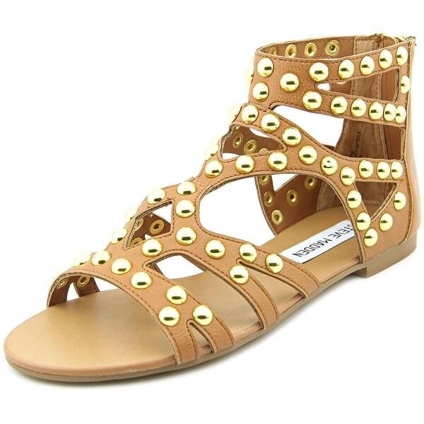 Steve Madden Culver-S Women Open Toe Synthetic Tan Gladiator Sandal