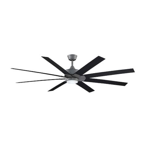 Levon Custom Indoor Ceiling Fan DC Motor - Galvanized