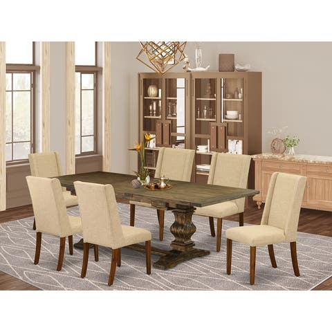 East West Furniture This is fabulous kitchen dinning sets with rectangle table and parson chairs