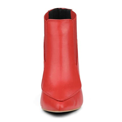 Women Pointed Toe Stiletto High Heel Chelsea Booties