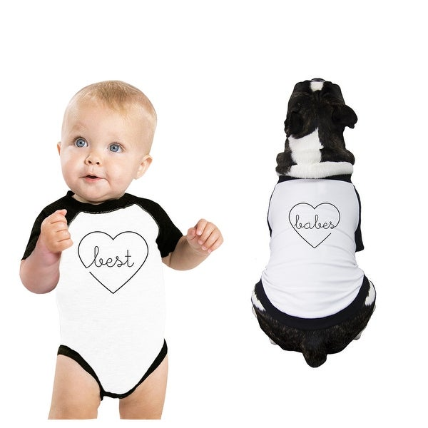 Best Babes Pet And Baby Matching Raglan Tees 3/4 Sleeve Baseball