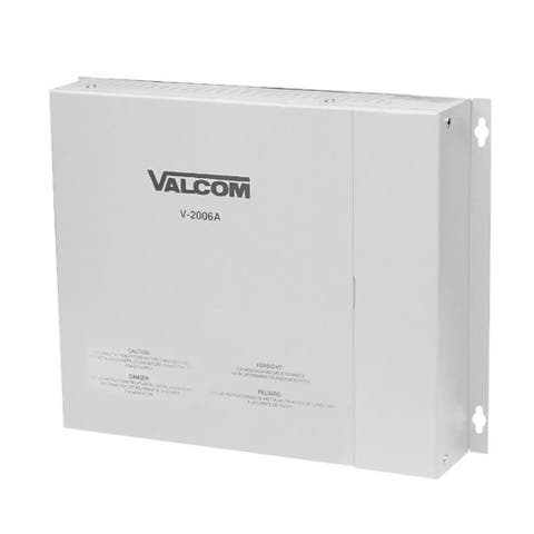 Valcom V-2006A Paging Product One Way 6 Zone Page Control W/ Built In Power - Multicolor