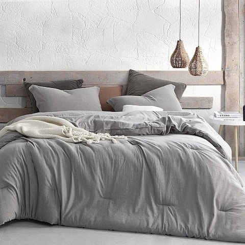 Shaded Gray Oversized Comforter - 100% Yarn Dyed Cotton