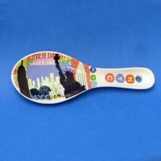 Pack of 6 New York City All Icon White Ceramic Kitchen Spoon Rests