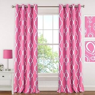"Elrene Home Fashions Juvenile Tween Blackout Room Darkening Grommet Window Curtain Drape Panel, 52""X95"""