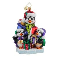 Christopher Radko Glass A Gift for Everyone Penguin Christmas Ornament #1017664 - multi