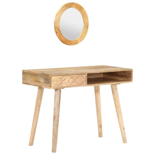 "vidaXL Dressing Table 39.4""x19.7""x29.9"" Solid Mango Wood. Opens flyout."