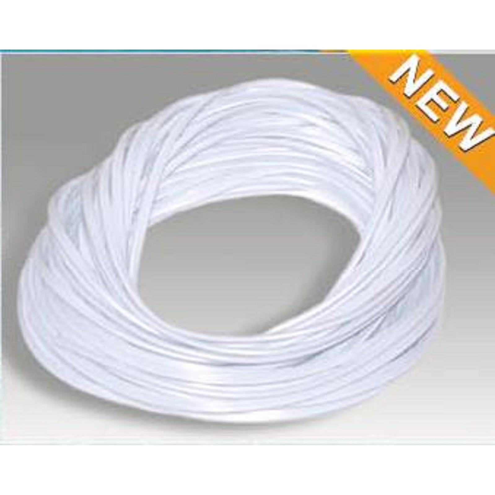 120' White Weather Resistant Foot Roll Swimming Pool and Spa Bead Lock Accessory - N/A