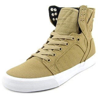 Supra Skytop D Men  Round Toe Canvas Green Skate Shoe