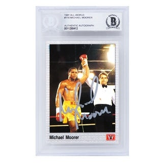 Michael Moorer 1991 All World Boxing Trading Card 116 Beckett Encapsulated