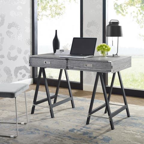 Alene 2 Drawers Writing Desk with Tresle Legs