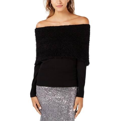 XOXO Womens Eyelash Pullover Sweater, Black, Large