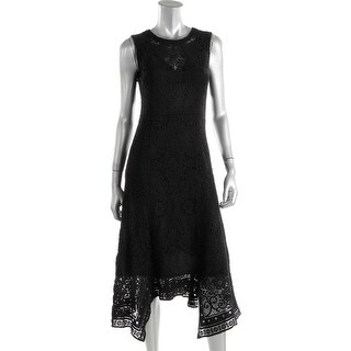 Kobi Halperin Womens Nori Crochet Overlay Sleeveless Wear to Work Dress - 4